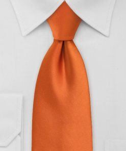 Stropdas satijn orange