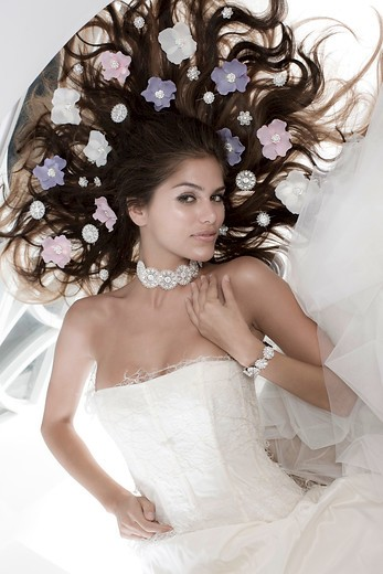 Bridal Blinx stoffen bloem