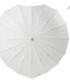 Paraplu voor trouwen hartvorm
