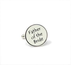 Manchetknopen vader bruid