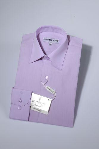 Overhemd klassiek lila
