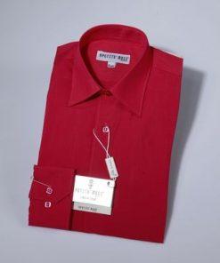 Overhemd klassiek rood