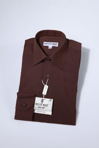 Overhemd klassiek bruin
