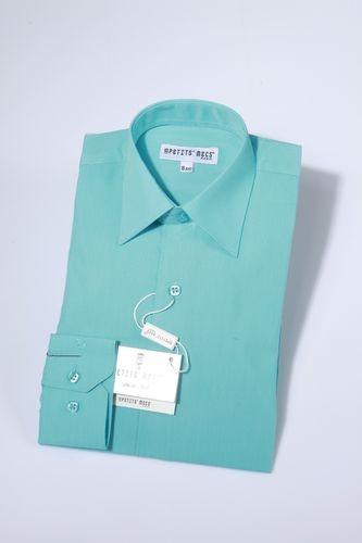 Overhemd klassiek turqoise