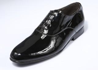 Lakschoen zwart 4228