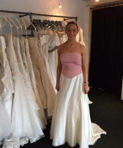 KLM pink ivory dress